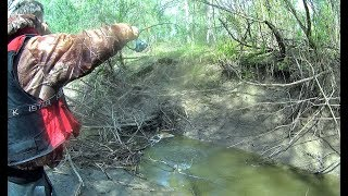 В РУЧЬЕ КИЛОГРАММОВЫЕ ГОРБАЧИ НА КАЖДОМ ЗАБРОСЕ!!!Рыбалка 2019 monsters in the creek лужа.