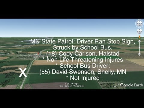 DETAILS: School Bus Crash Near Halstad, Minnesota