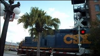 CSX Train Breaks Down Crossing Gates Malfunction