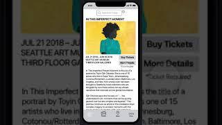 The Seattle Art Museum App Design Prototype