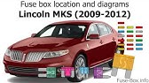 Fuse Box Location And Diagrams Lincoln Mkz 2007 2012 Youtube