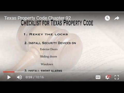 Landlord Obligations: Texas Property Code Checklist