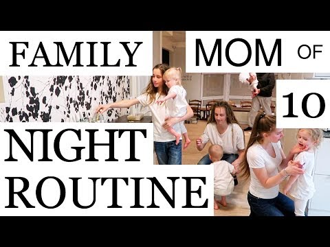 MOM OF 10 / FAMILY NIGHT ROUTINE (PART 1/2)