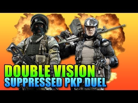 Double Vision: Suppressed PKP Showdown! (Battlefield 4 Gameplay/Commentary)