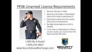North Carolina PPSB Unarmed Security License Charlotte