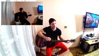 Белоусов девченка девченочка тёмные ночи (кавер + аккорды+оригинальный проигрыш в две гитары)