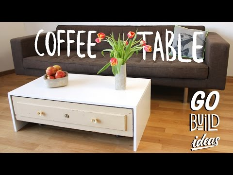 How to make a COFFEE TABLE with a drawer