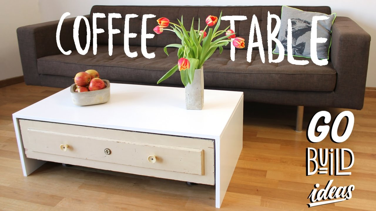 How To Make A Coffee Table With Drawer