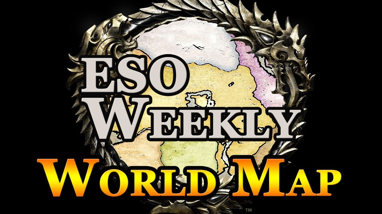 Elder Scrolls Online Weekly Interactive World Map YouTube