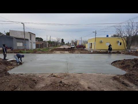 Obras Públicas finalizó las bocacalles de Laprida