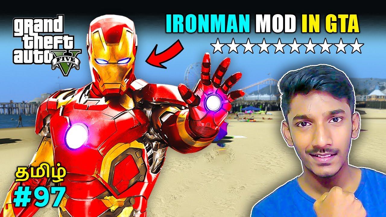 GTA 5 Tamil   Iron man in GTA 5   Police vs Iron man   Fun mod gameplay GTA 5   Sharp Tamil Gaming