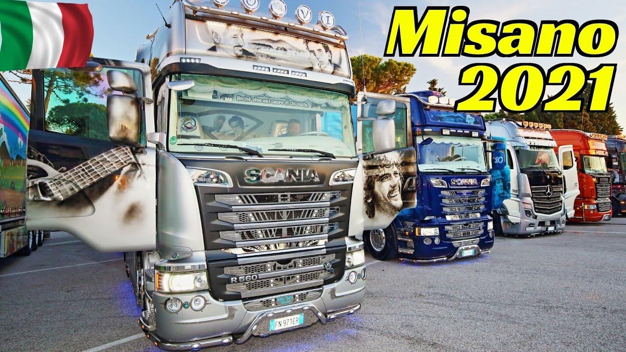 Misano 2021 Camion Decorati / Custom Trucks Show - Weekend del Camionista - Aerografie & Cromature 👍