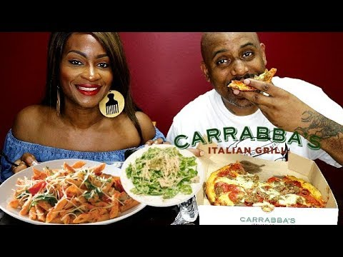 CARRABAS ITALIAN GRILL MUKBANG! RESPONDING TO YOUR COMMENTS!
