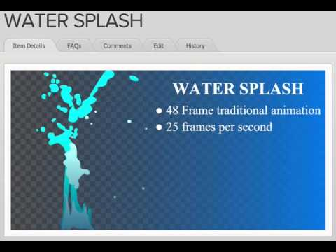 Water Splash Flash Animation