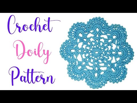How to Crochet a doily Part I - YouTube