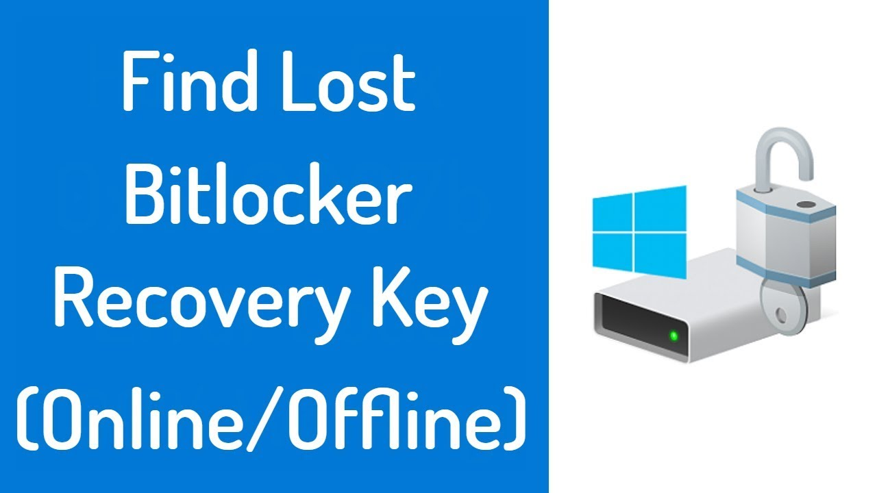 windows 7 bitlocker recovery key lost
