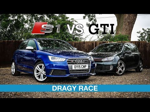 Audi S1 vs VW Golf GTI - DRAGY RACE