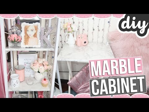 DIY MARBLE CABINET USING ONLY STICKER PAPER! (Before & After)