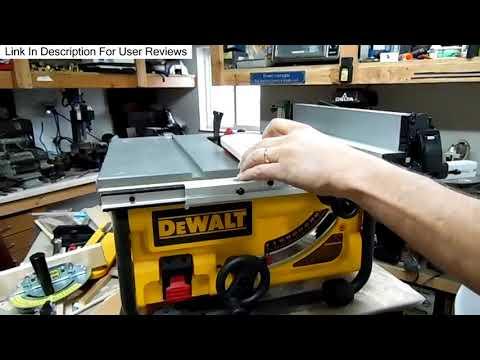 Dewalt DWE7480 Table Saw Real User Review