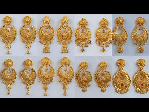 PURE GOLD CHANDBALI- EARRINGS DESIGNS WITH WEIGHT AND PRICE
