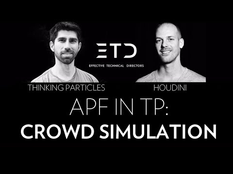 Houdini vs TP: Crowd simulation using APF