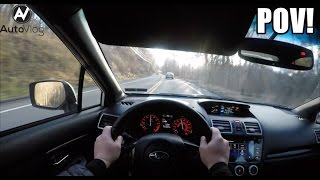 Driving the 2016/2017 Subaru WRX STI ! With the sun in my eyes.. POV !