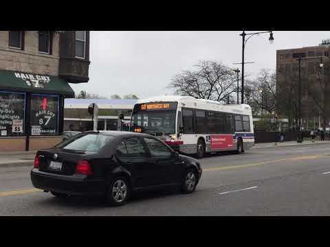 Brief CTA/Pace Bus Action On N Milwaukee Ave/W Gale St