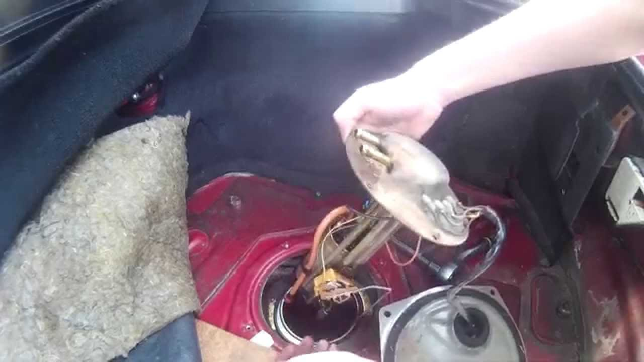 Nissan S13 Fuel Pump Removal - YouTube