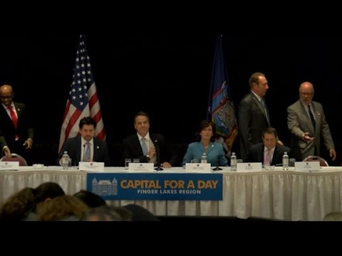 Gov. Andrew Cuomo Discusses Economic Development in Upstate New York