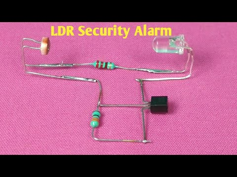Security Alarm with LDR | LDR Latch Circuit