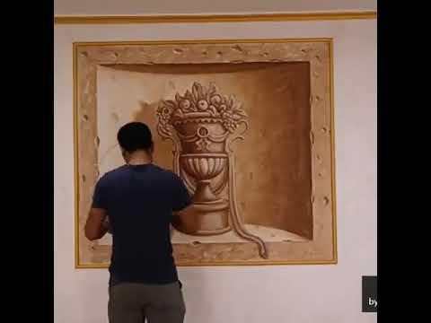 wall painting,tromploeil رسم جداري