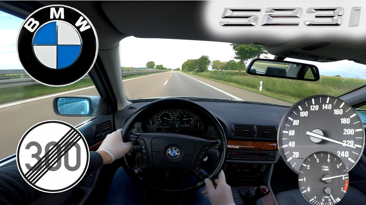 BMW E39 523i TOP SPEED NO LIMIT AUTOBAHN GERMANY