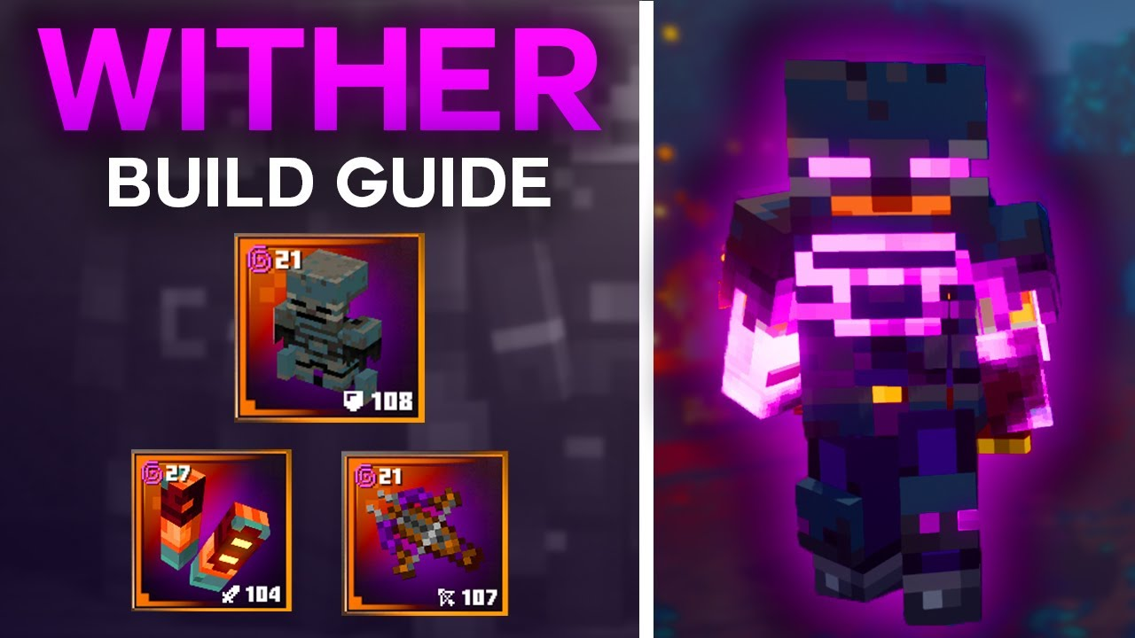 Wither Build (Lifestealing/Melee Damage) Minecraft Dungeons