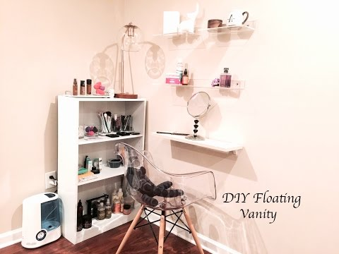 Floating makeup vanity