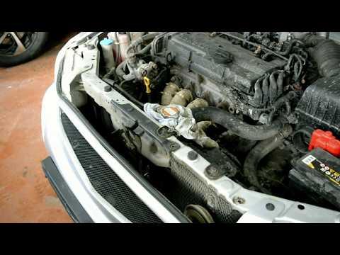 Hyundai Accent (Getz,Elantra,Matrix) Замена антифриза. Промывка системы охлаждения.
