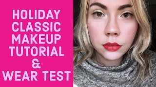 Vlogmas 4: Classic Holiday Makeup Tutorial and wear Test