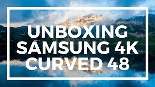 """PT BR - UNBOXING Smart TV LED Curva 48"""" 4K Samsung"""