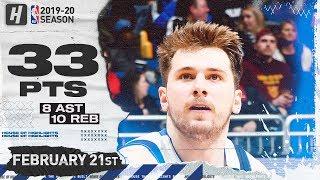 Luka Doncic 33 Pts 10 Reb 8 Ast Full Highlights   Mavericks vs Magic   February 21, 2020