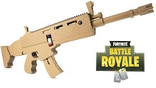 How To Make FORTNITE SCAR - Cardboard