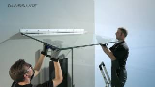 GLASSLINE CANOPY CLOUD Ganzglasvordach Montagevideo