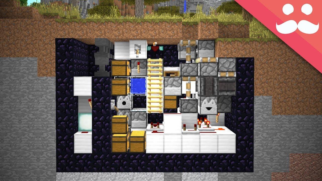 how to make a underground bunker in minecraft pe