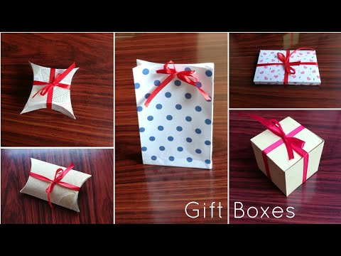 Easy DIY Gift Boxes | Paper box tutorial