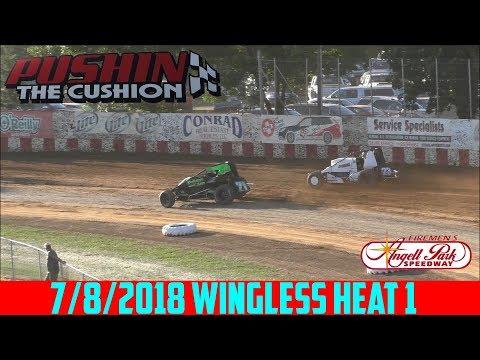 Angell Park Speedway - 7/8/2018 - Wingless Sprints - Heat 1
