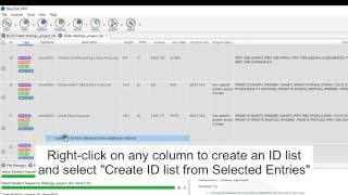 How to select sequences by function and create ID lists with Blast2GO