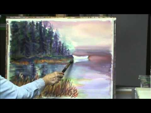 Watercolor And Pastel Painting Demonstration By Millie