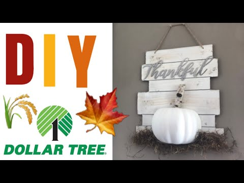 DIY Dollar Tree FALL Farmhouse Decor || Farmhouse Autumn Decor