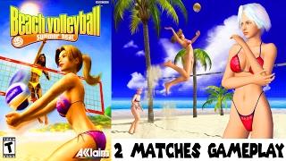SUMMER HEAT BEACH VOLLEYBALL - 2 Matches Gameplay PS2 HD