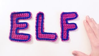 letras e l y f a crochet   how to crochet letters e l and f