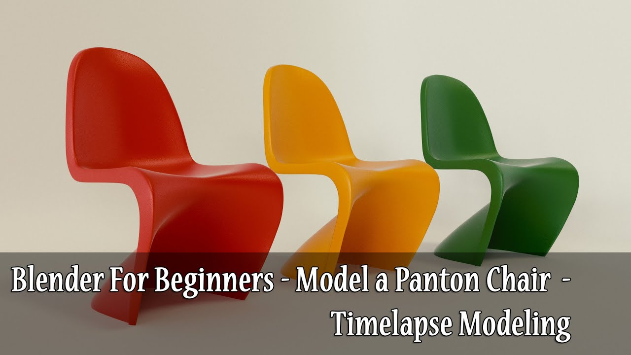 Blender For Beginners Model a Panton Chair Timelapse Modeling