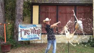 How to Cut Cans with a Whip